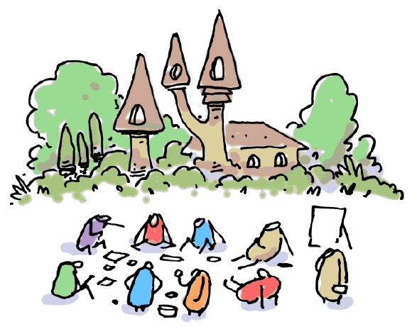 Rencontre au château partagé